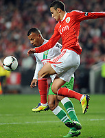 20120114: LISBON, PORTUGAL – Liga Zon Sagres 2011/2012: SL Benfica vs V. Setubal. In picture: Rodrigo (Benfica).<br />PHOTO: Alvaro Isidoro/CITYFILES