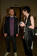 WOLFGANG TILLMANS AND PATRICK WOLF .  Opening of Street & Studio exhibition at Tate Modern on Tuesday 20 May 2008.  *** Local Caption *** -DO NOT ARCHIVE-© Copyright Photograph by Dafydd Jones. 248 Clapham Rd. London SW9 0PZ. Tel 0207 820 0771. www.dafjones.com.