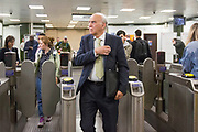 UNITED KINGDOM, London: 22 May 2019 <br /> Leader of the Liberal Democratics Vince Cable arrives at Archway Station, North London as part of the party's final push ahead of the European election campaign. Vince Cable joined activists for a rally speech and leafleting in Jeremy Corbyn's own constituency.<br /> Rick Findler / Story Picture Agency