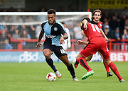 Wycombe's Aaron Amadi-Holloway during the Sky Bet League 2 match between Crawley Town and Wycombe Wanderers at the Checkatrade.com Stadium, Crawley, England on 29 August 2015. Photo by David Charbit.