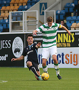 Jesse Curran tackles Faicre Kelleher - Celtic v Dundee - Development League at Cappielow<br /> <br />  - &copy; David Young - www.davidyoungphoto.co.uk - email: davidyoungphoto@gmail.com