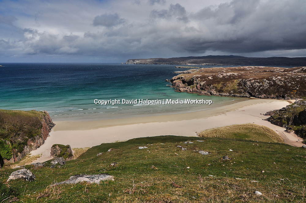 Beach, looking across mouth of Loch Erinboll