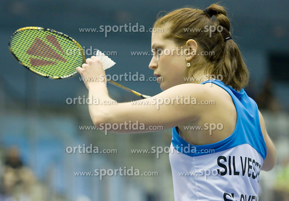 Spela Silvester of Slovenia at badminton tournament Slovenia International 2011, on May 13, 2011, in Medvode, Slovenia. (Photo by Grega Valancic / Sportida)