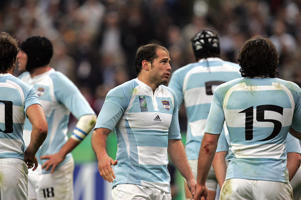 A dejected Felipe Contepomi after Scotland score a try. Argentina v Scotland (19 - 13) Stade de France, St Dennis, 07/10/2007, Quarter Final Match 44. Rugby World Cup 2007..