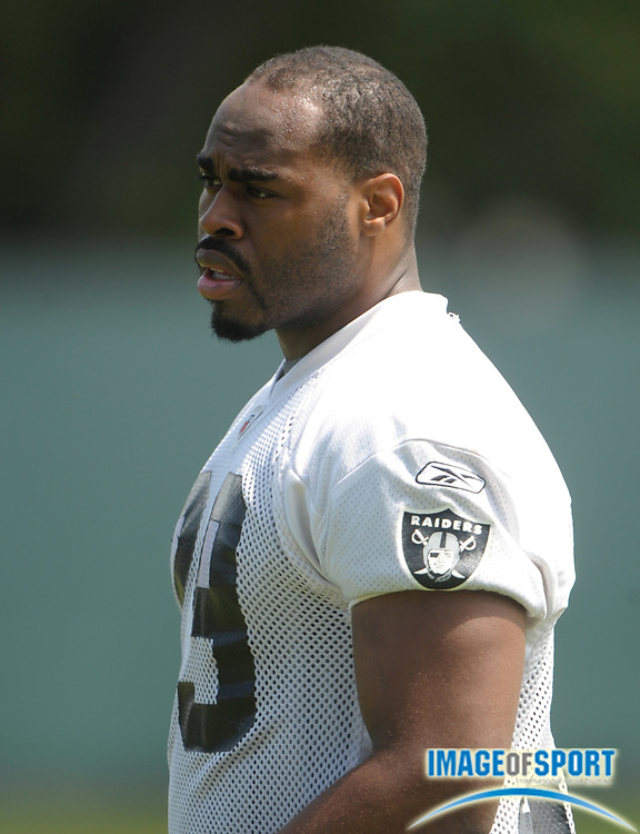 May 26, 2010; Alameda, CA, USA; Oakland Raiders running back Michael Bush (29) at organized team activities at the Oakland Raiders practice facility.