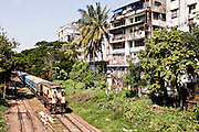 City train, Yangon, Myanmar.