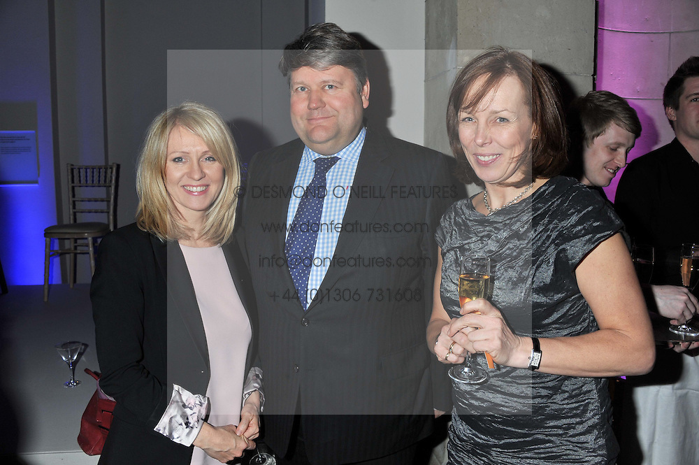 Left to right, ESTHER MCVEY LORD STRATHCLYDE and ? at the 50th birthday party for Jonathan Shalit held at the V&A Museum, London on 17th April 2012.