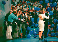 Thats me on the left in the blue shirt on stage the Republican convention.