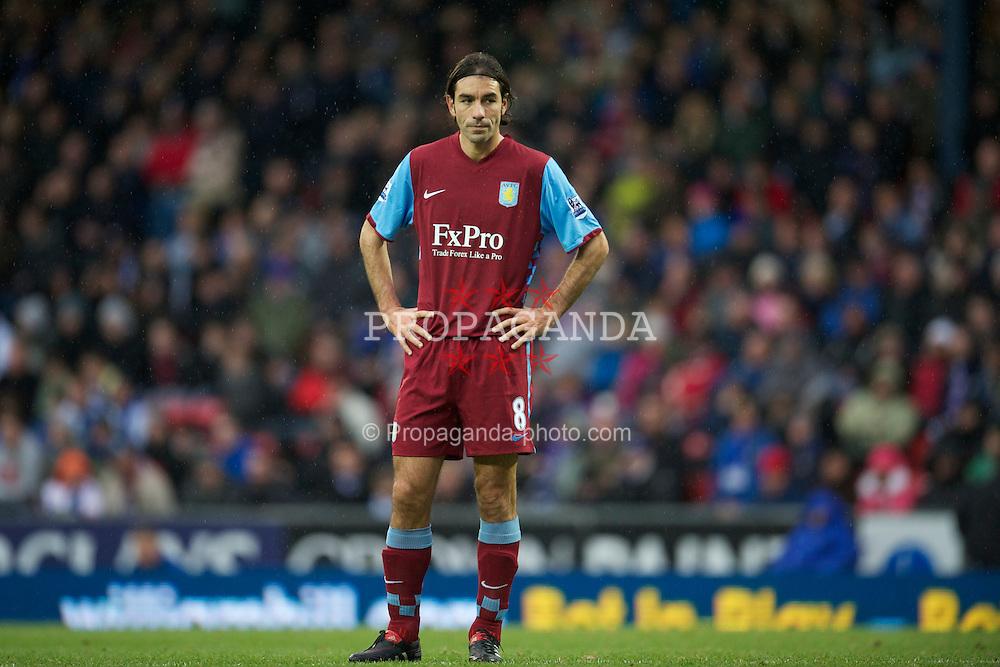 BLACKBURN, ENGLAND - Sunday, November 21, 2010: Aston Villa's Robert Pires makes his debut during the Premiership match against Blackburn Rovers at Ewood Park. (Photo by David Rawcliffe/Propaganda)