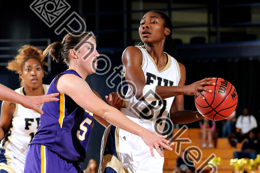 2012 November 25 - FIU's Jerica Coley (22). Florida International University fell to LSU, 69-76, at US Century Bank Arena, Miami, Florida. (Photo by: www.photobokeh.com / Alex J. Hernandez) This image is copyright PhotoBokeh.com and may not be reproduced or retransmitted without express written consent of PhotoBokeh.com. ©2012 PhotoBokeh.com - All Rights Reserved