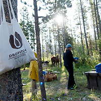 dropstone outfitting camp in the badger two medicine hiking