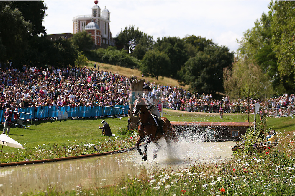 Michelle Mueller of Canada jumps during the team eventing equestrian event during day 3 of the London Olympic Games London, 30 Jul 2012..(Jed Jacobsohn/for The New York Times)....