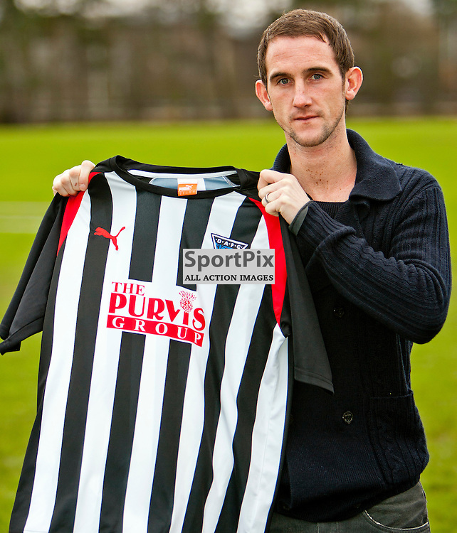 The Clydesdale Bank Scottish Premier League, Season 2011/12.Dunfermline Athletic Football Club - Mark Kerr Signing..20-01-12...Dunfermline Athletic announce the signing of former Dundee Utd and Aberdeen Midfielder Mark Kerr..At Pitreavie- Dunfermline Academy of sport, Dunfermline...Picture, Craig Brown ..Friday 20th January 2012.