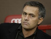 Photo: Aidan Ellis.<br /> Manchester United v Chelsea. The Barclays Premiership. 26/11/2006.<br /> Chelsea boss  Jose Mourinho