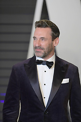 February 24, 2019 - Beverly Hills, California, U.S - Jon Hamm on the red carpet of the 2019 Vanity Fair Oscar Party held at the Wallis Annenberg Center in Beverly Hills, California on Sunday February 24, 2019. JAVIER ROJAS/PI (Credit Image: © Prensa Internacional via ZUMA Wire)