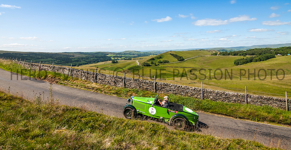 John Ruston and Jeremy Haylock in their Talbot 105 Alpine  on the Royal Automobile Club 1000 Mile Trial 2015