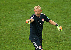 MOSCOW, RUSSIA - Tuesday, June 26, 2018: Denmark's goalkeeper Kasper Schmeichel during the FIFA World Cup Russia 2018 Group C match between Denmark and France at the Luzhniki Stadium. (Pic by David Rawcliffe/Propaganda)