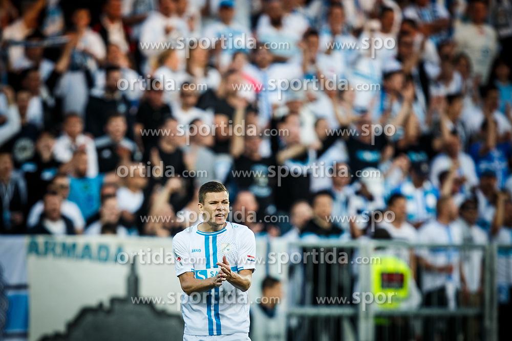 Roman Bezjak #14 of HNK Rijeka during football match between HNK Rijeka and GNK Dinamo Zagreb in Round #27 of 1st HNL League 2016/17, on November 5, 2016 in Rujevica stadium, Rijeka, Croatia. Photo by Grega Valancic / Sportida