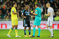 Andre AYEW  / Stephane LANNOY - 17.04.2015 - Nantes / Marseille - 33eme journee de Ligue 1<br />