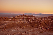 Landcape view of Valley of the Moon, San Pedro de Atacama, Chile.