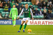 Mark Milligan (#5) of Hibernian FC during the Ladbrokes Scottish Premiership match between Hibernian and Rangers at Easter Road, Edinburgh, Scotland on 8 March 2019.