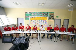 Press conference of handball club RK Celje Pivovarna Lasko before new season 2008/2009, on September 2, 2008 in Celje, Slovenia. (Photo by Vid Ponikvar / Sportal Images)