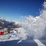 Jonathan Nordbotten, Norway, in action during the Men's Giant Slalom competition at Coronet Peak, New Zealand during the Winter Games. Queenstown, New Zealand, 22nd August 2011. Photo Tim Clayton