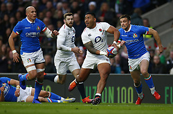 March 9, 2019 - London, England, United Kingdom - London, ENGLAND, 9th March .Manu Tuilagi of England .during the Guinness 6 Nations Rugby match between England and Italy at Twickenham  stadium in Twickenham  England on 9th March 2019. (Credit Image: © Action Foto Sport/NurPhoto via ZUMA Press)