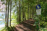 Parkhotel Tristacher See, Tyrol, Austria. Path around the lake.