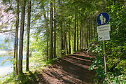 Parkhotel Tristacher See, Tyrol, Austria. Path around the lake.