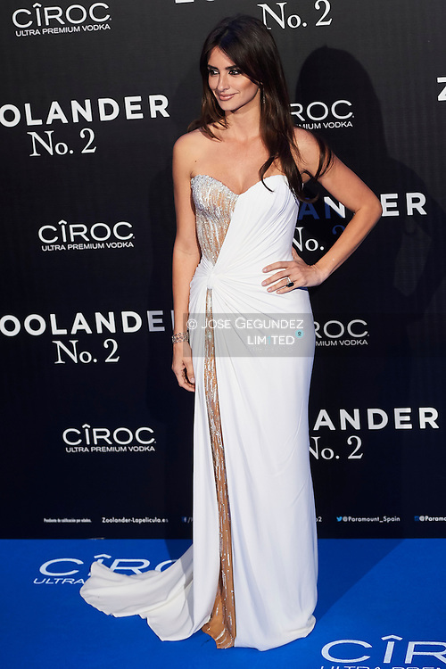 Penelope Cruz attend 'Zoolander No. 2' film premiere at Capitol Cinema on February 1, 2016 in Madrid, Spain