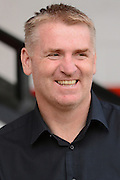 Walsall Manager Dean Smith during the Sky Bet League 1 match between Walsall and Doncaster Rovers at the Banks's Stadium, Walsall, England on 12 September 2015. Photo by Alan Franklin.