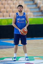 Kostas Papanikolaou of Greece at practice session of team Greece 1 day before the beginning of Eurobasket 2013 on September 3, 2013 in Arena Bonifika, Koper, Slovenia. (Photo by Matic Klansek Velej / Sportida.com)