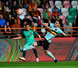 Portugal's Cedric vies with Belgium's Vermaelen during a friendly soccer match betweem Portugal and Belgium in preparation for Euro 2016 in France at Leiria Municipal Stadium, Portugal, on March 29, 2016. Portugal won 2-1. EXPA Pictures © 2016, PhotoCredit: EXPA/ Photoshot/ Zhang Liyun<br /> <br /> *****ATTENTION - for AUT, SLO, CRO, SRB, BIH, MAZ, SUI only*****