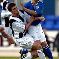 St Johnstone v St Mirren...25.10.03<br />Ross Forsyth is fouled by Mark Crilly<br /><br />Picture by Graeme Hart<br />Perthshire Picture Agency<br />Tel: 01738 623350 / 07990 594431
