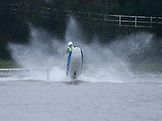 Jet skier at flooded Drumgeith football parks in Dundee, the water is up to seven feet deep<br /> <br />  - &copy; David Young - www.davidyoungphoto.co.uk - email: davidyoungphoto@gmail.com