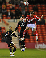Nottingham - Saturday November 22nd, 2008: Chris Cohen of Nottingham Forest and David Bell of Norwich City during the Coca Cola Championship match at The City Ground, Nottingham. (Pic by Alex Broadway/Focus Images)