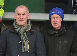 Eric Elwood and Michael Heneghan watching the Junior Cup final.<br />