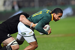 South Africa's Courtnall Skosan against New Zealand in the Investic Championship rugby test match at QBE Stadium, Albany, Auckland New Zealand, Saturday, September 16, 2017. Credit:SNPA / Ross Setford** NO ARCHIVING**