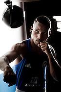 Sao Paulo, Brasil - January 08 of 2016: The Brazilian light weight boxer, Robson Donato Conceicao. Photo: CAIO GUATELLI