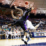 SOUTH BEND, IN - DECEMBER 21: Tom Knight #25 of the Notre Dame Fighting Irish and Ameen Tanksley #11 of the Niagara Purple Eagles collide under the basket at Purcel Pavilion on December 21, 2012 in South Bend, Indiana. (Photo by Michael Hickey/Getty Images) *** Local Caption *** Tom Knight; Ameen Tanksley