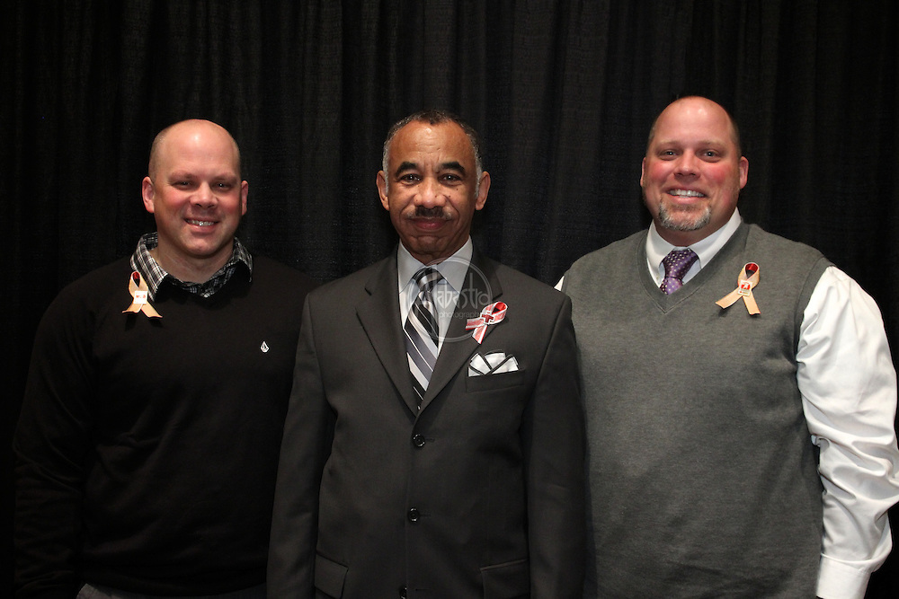 16th Annual American Red Cross Heroes Breakfast of King County - Heroes and Survivors. Heroes Eric Zender and Jason Mark with Arthur D. Jackson Jr. (center) presenting for Costco.