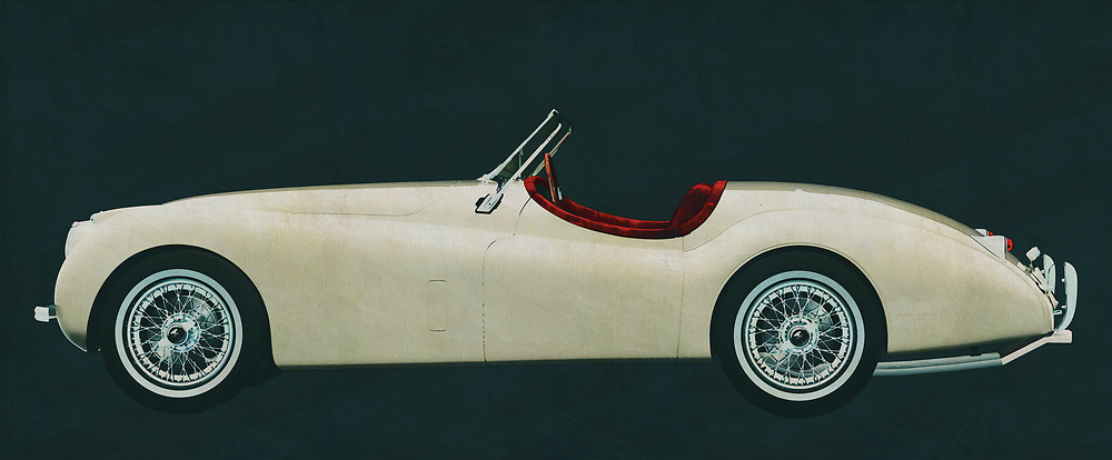 A true expression of the British lifestyle, this painting of a 1954 Jaguar XK-120 is so suitable to be placed in an interior that this phlegm should propagate. With this 1954 Jaguar XK-120 your Great Britain really place in your interior. <br /> <br /> This painting of a Jaguar XK-120 from 1954 can be printed very large on different materials. The work has a panoramic ratio and is very suitable to add a detail in a workspace, showroom or just at home that will impress your visitors. –<br /> <br /> BUY THIS PRINT AT<br /> <br /> FINE ART AMERICA<br /> ENGLISH<br /> https://janke.pixels.com/featured/the-1954-jaguar-xk-120-british-phlegm-distilled-in-a-classic-con-jan-keteleer.html<br /> <br /> WADM / OH MY PRINTS<br /> DUTCH / FRENCH / GERMAN<br /> https://www.werkaandemuur.nl/nl/shopwerk/Jaguar-XK-120-1954/606109/132<br /> <br /> -