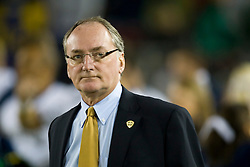 November 28, 2009; Stanford, CA, USA;  Notre Dame athletic director Jack Swarbrick during the fourth quarter against the Stanford Cardinal at Stanford Stadium.  Stanford defeated Notre Dame 45-38.