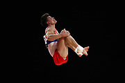Dmitrii Lankin (Russia) the floor competition during the presentation of the teams during the European Championships Glasgow 2018, Team Men Final at The SSE Hydro in Glasgow, Great Britain, Day 10, on August 11, 2018 - Photo Laurent Lairys / ProSportsImages / DPPI