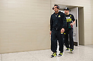 DALLAS, TX - MARCH 13:  UFC lightweight champion Anthony Pettis walks to the scale during the UFC 185 weigh-ins at the Kay Bailey Hutchison Convention Center on March 13, 2015 in Dallas, Texas. (Photo by Cooper Neill/Zuffa LLC/Zuffa LLC via Getty Images) *** Local Caption *** Anthony Pettis