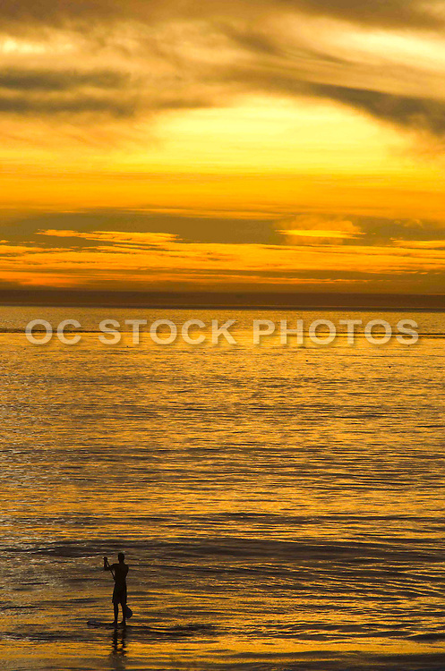 Stand Up Paddle at Sunset in San Clemente California