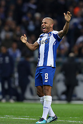 March 2, 2018 - Porto, Porto, Portugal - Porto's Algerian forward Yacine Brahimi celebrates after scoring a goal during the Premier League 2017/18, match between FC Porto and Sporting CP, at Dragao Stadium in Porto on March 2, 2018. (Credit Image: © Dpi/NurPhoto via ZUMA Press)