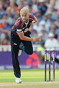 Olly Stone during the NatWest T20 Blast final match between Northants Steelbacks and Lancashire Lightning at Edgbaston, Birmingham, United Kingdom on 29 August 2015. Photo by David Vokes.