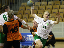 Nusa Skutnik of Olimpija  at  handball game between women team RK Olimpija vs ZRK Brezice at 1st round of National Championship, on September 13, 2008, in Arena Tivoli, Ljubljana, Slovenija. (Photo by Vid Ponikvar / Sportal Images)